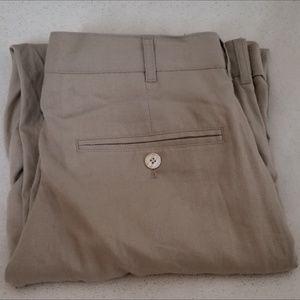 Alan Flusser Linen blend slacks pleated front cuff